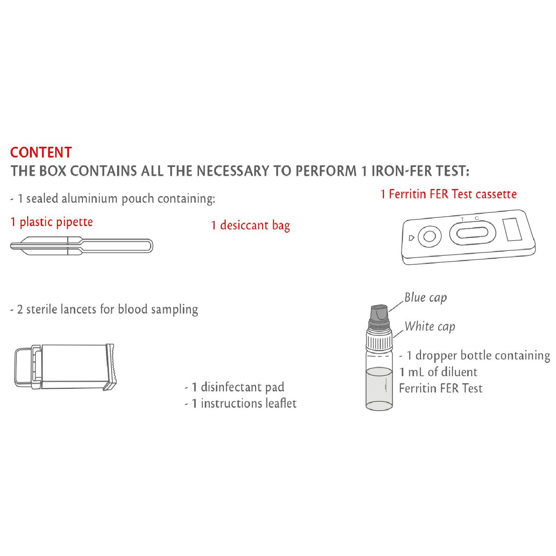 Anaemia Test Kit Ferritin Testing Blood Tests 1 Test Pack   Home Health UK