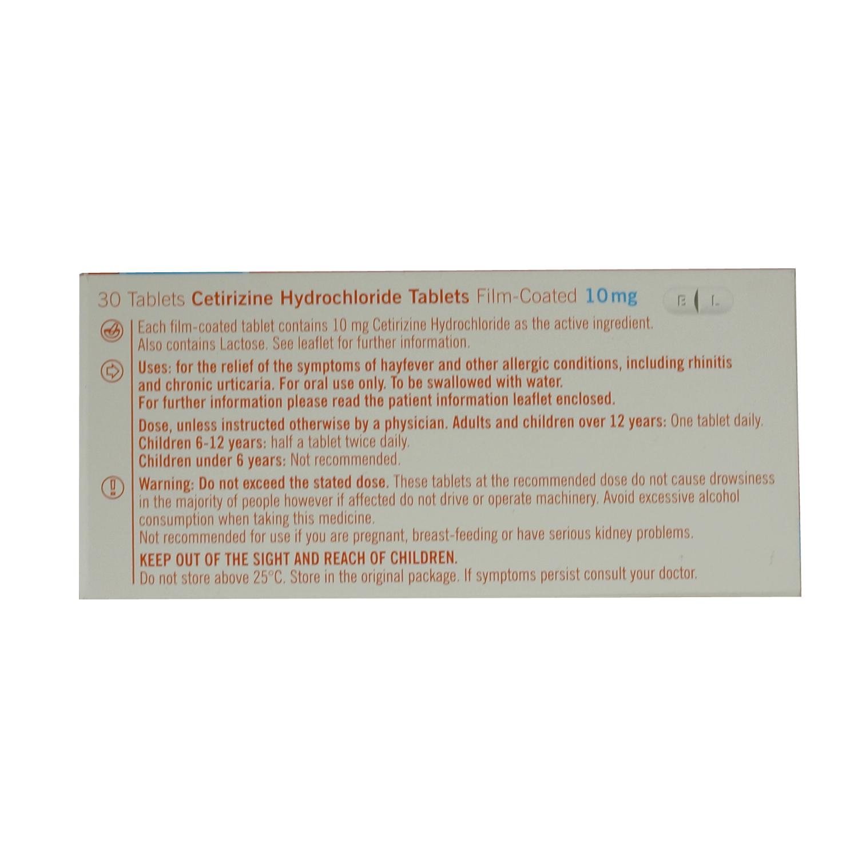 Cetirizine 10mg Tablets Price