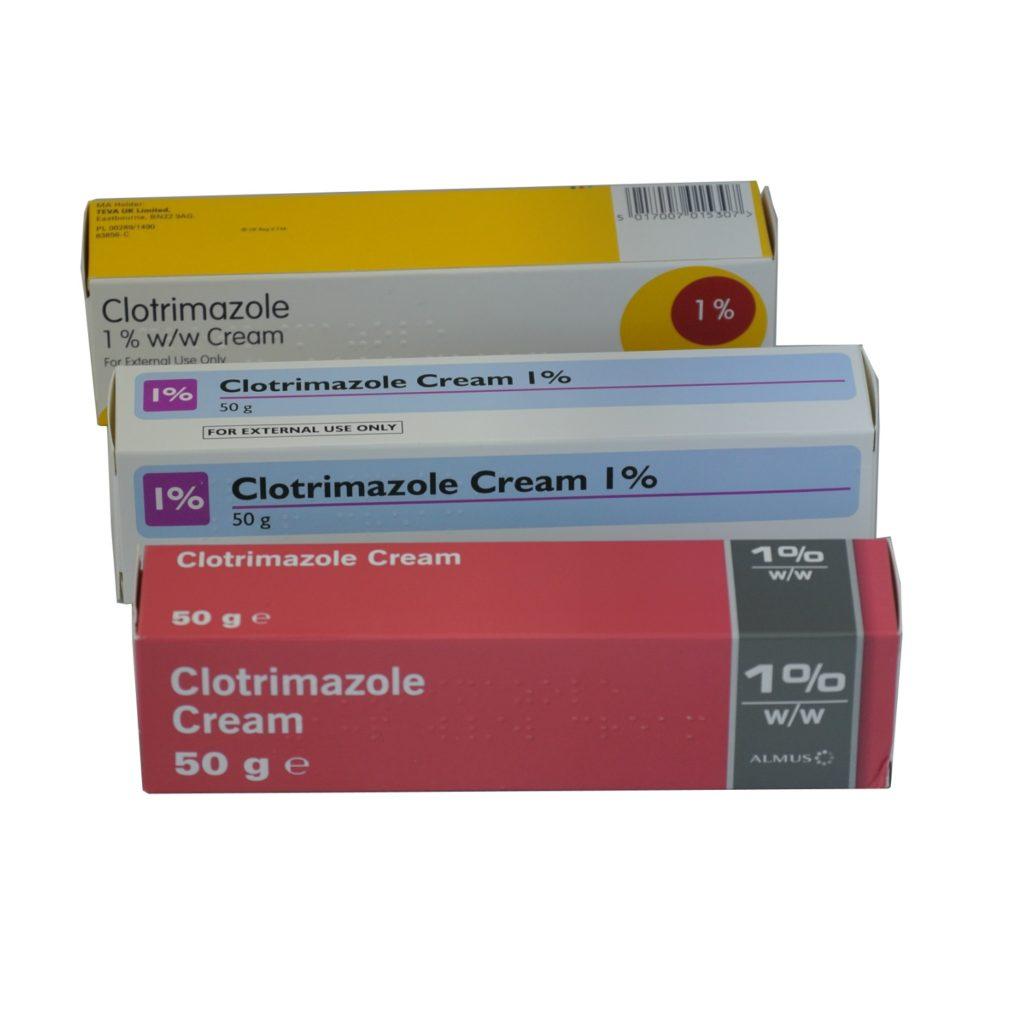 1 x 50g Clotrimazole (Canesten) 1% anti-fungal skin cream