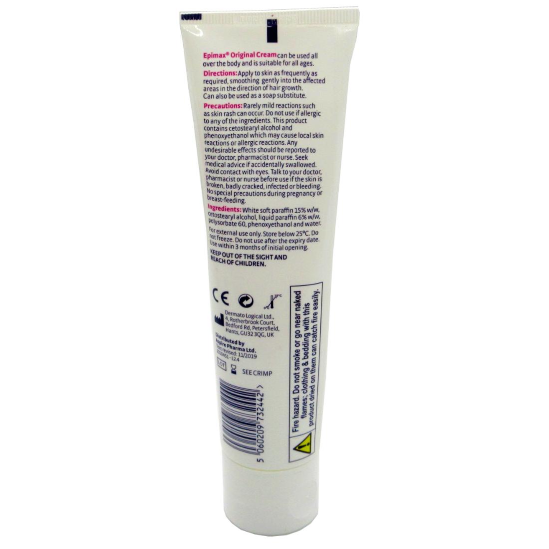Epimax Cream for Eczema and Psoriasis SLS Free 4 100g Bottles