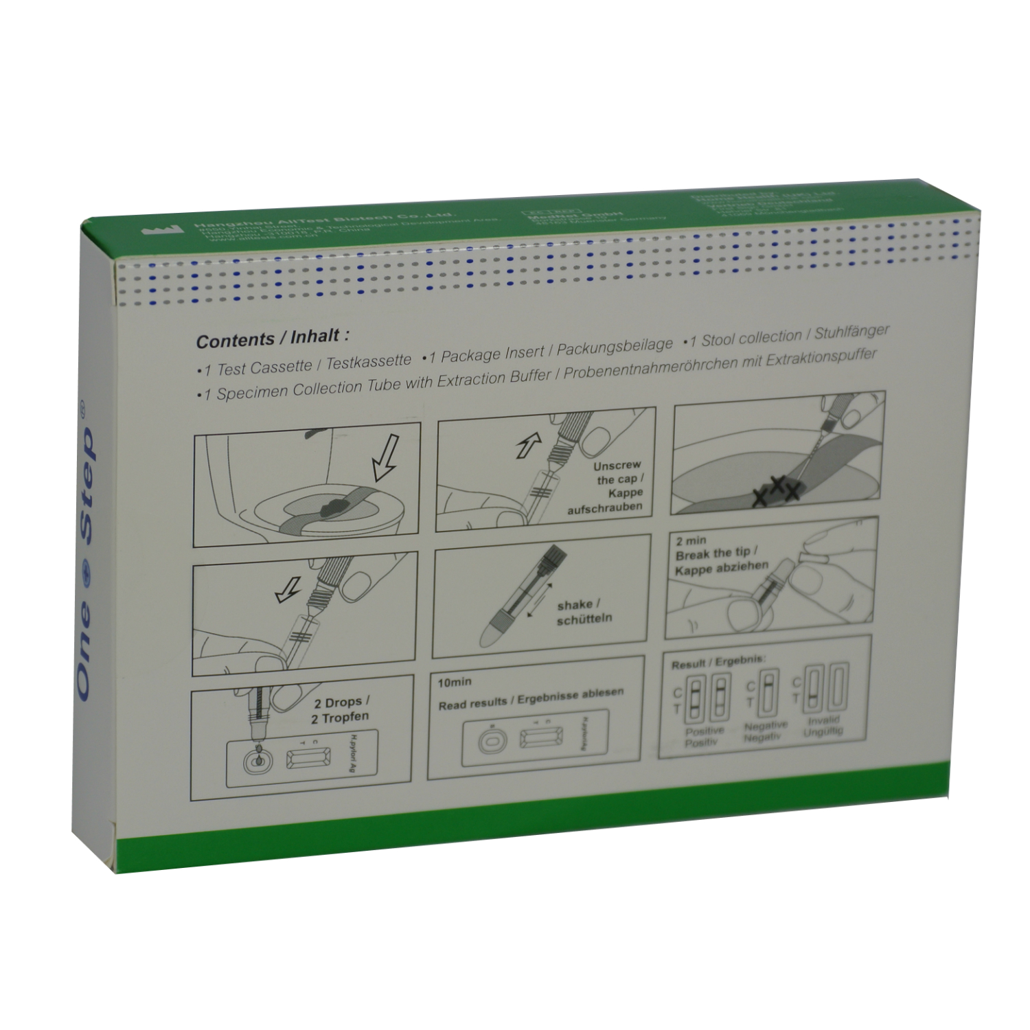 Stomach Ulcer Test Helicobacter H Pylori Faecal Kit One Step 1 Test Home Health Uk
