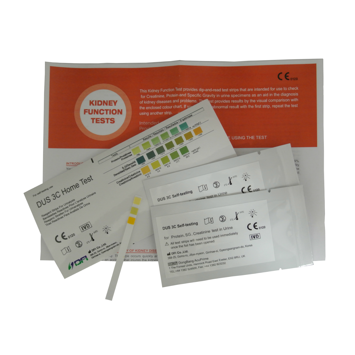 Home Kidney Function Urine Test Kits 2 Testing Strips Home Health Uk