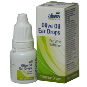 ear wax drops olive oil box and bottle