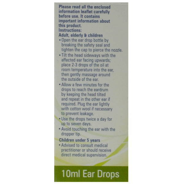 ear wax drops olive oil side box 1