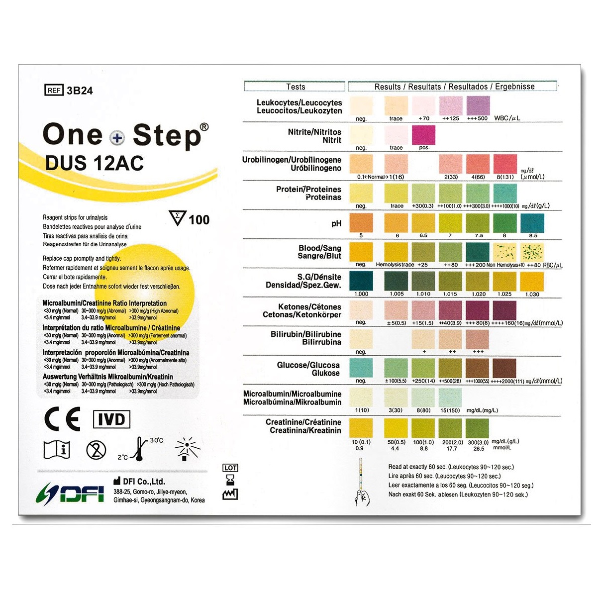 12 Parameter Urine Test Strips - 1 x 100 Dipstick Tests, Diabetes,  Infection, pH | Home Health UK