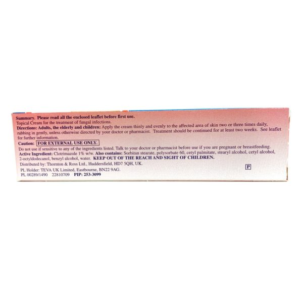 clotrimazole cream box back
