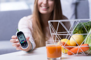 Diabetic girl leading healthy lifestyle