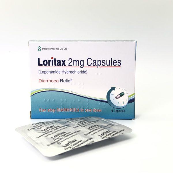 loritax loperamide box front
