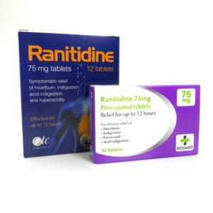 Ranitidine 75mg Tablets