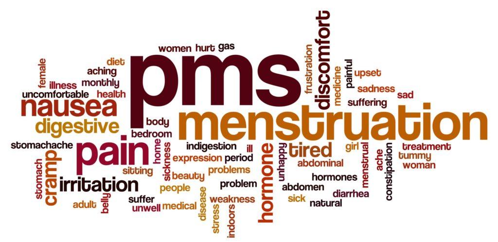 p.m.s. menstruation p.m.t. words
